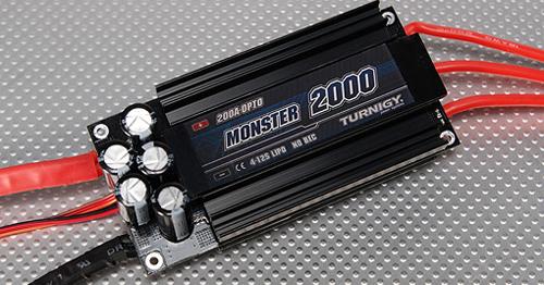 Turnigy Monster-2000 200A 4-12S Brushless ESC