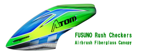 FUSUNO Rush Checkers Airbrush Fiberglass Canopy
