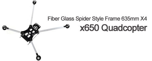 Fiber Glass Spider Style Frame 635mm X4 x650 Quadcopter