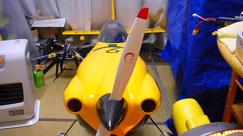 Xoar Sword (白)プロペラ をMXS-R 50cc 電動コンバージョンに取り付け!