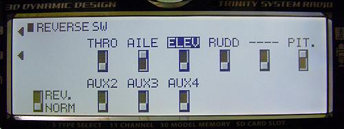 JR11X 画面ではサーボリバースを以下のようにします。