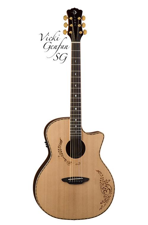 Luna guitar Vicki Genfan SG