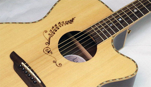 LUNA Vicki Genfan Signature acoustic electric GUITAR
