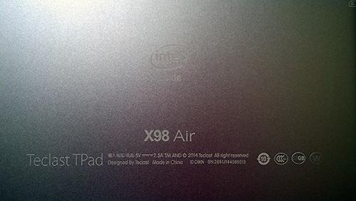 Teclast X98 Air  背面