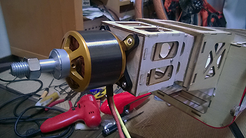 Goldwing MX-2 30cc モーター取り付け