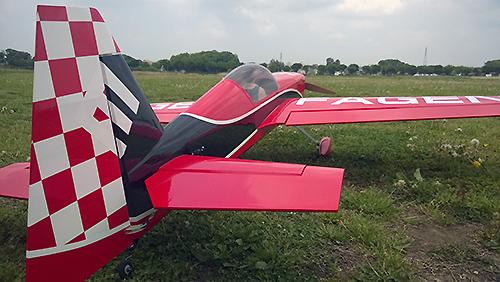 MX-2 30cc 電動バージョン初飛行前
