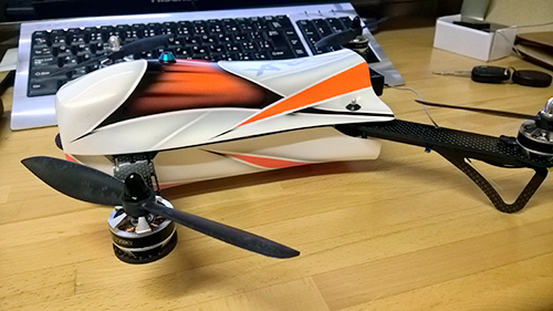RJX CAOS 330 カウル取り付け