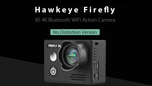 HawKeye Firefly 8S 4K Sports Camera No Distortion Version