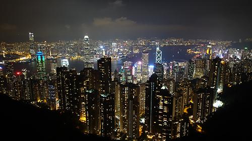 王道の香港の夜景