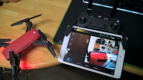 DJI SPARK with iPad mini