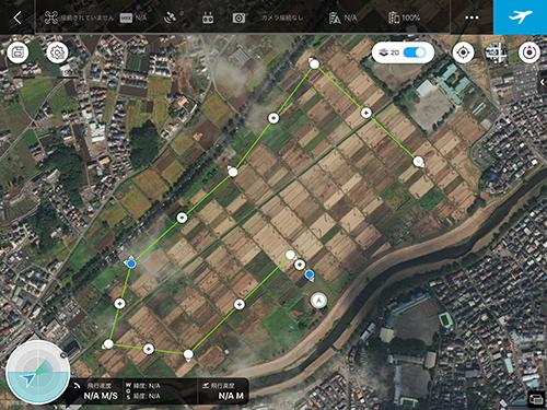 Ground Station Pro の飛行プラン画面
